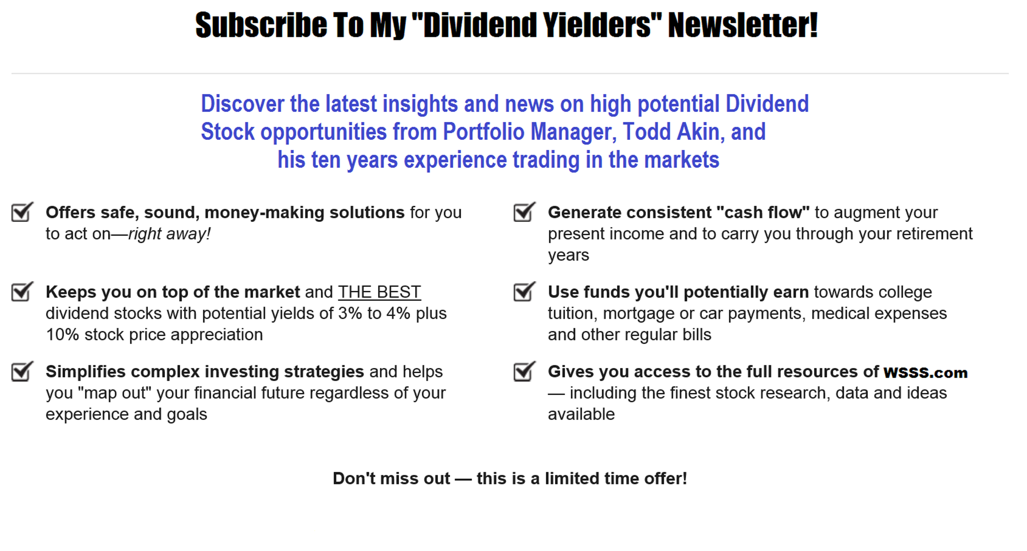 dividend yielders design page 1